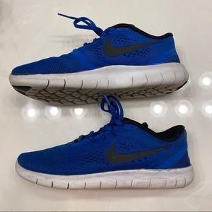 Nike Free RN blue shoes